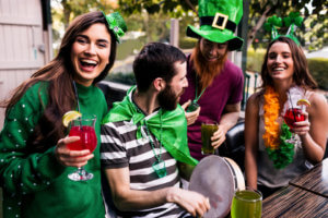 People Enjoying St. Patrick's Day