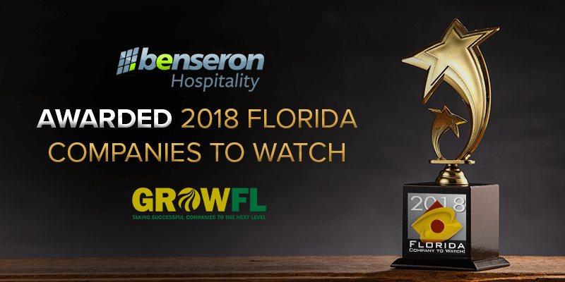 Benseron a Company to Watch 2018 GrowFL Awards