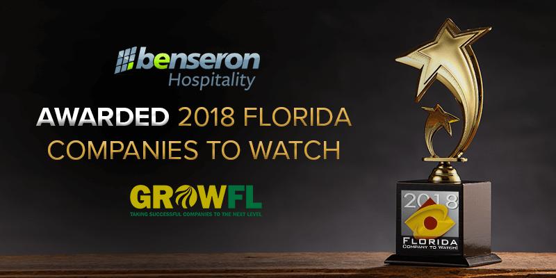 Benseron a Company to Watch 2018 GrowFL Awards